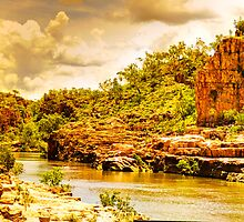 Cruising Katherine Gorge in the wet season by Geoffrey Thomas