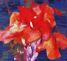 Orangey-red canna lily by ♥⊱ B. Randi Bailey