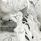 Erotic tree (old drawing 1998) by Sebastiaan Koenen