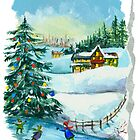 Winter - Christmas Card by Elisabeta Hermann