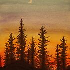 Pinetree Sunset by melly385