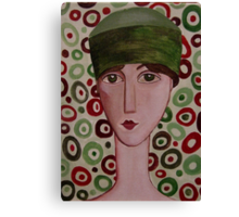 The Green Hat Canvas Print