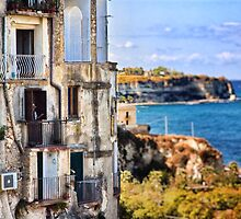 Old man on Tropea balcony by Silvia Ganora