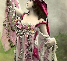 Vintage *Beautiful Bell and Her Flowers* by VintageMoon