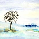Lone Tree in the Snow by Caroline  Lembke