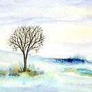 Lone Tree in the Snow by Caroline  Lembke