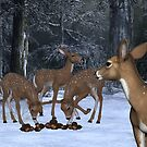 A Family of Deer by LoneAngel