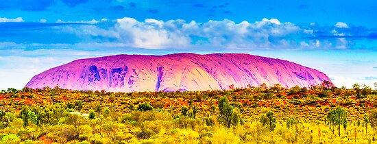 Northern Territory - Uluru - Ayers Rock Resort view by Geoffrey Thomas