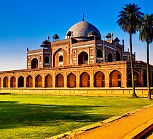 North India - Humayun's  tomb - New Delhi 2 by Geoffrey Thomas