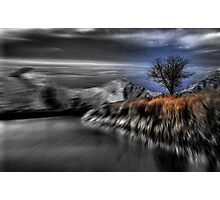Black and White Blur with Color Photographic Print