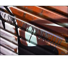 Corrigated Abstract Art Photographic Print