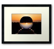 California Snow Globe Framed Print