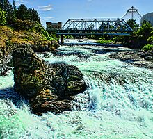 Upriver View of Spokane River by Kody Little