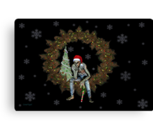 The season of Cheer .. A Zombie christmas  Canvas Print