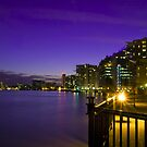 The River Thames at Purple Dusk by Irina-C