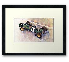 Lotus 25 F1 Jim Clark Monaco GP 1963 Framed Print