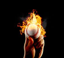 baseball fire by Jamie Roach
