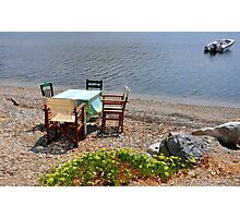 SKIATHOS - Ready for lunch! Photographic Print