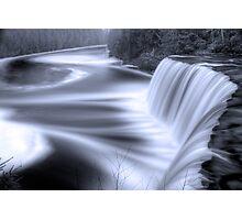 Tahquamenon falls Black and Blue Photographic Print