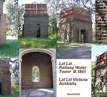 Lal Lal Old Bluestone Railway Water Tower & Tank by Kristina K