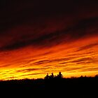 Red Skies - Outside of Saskatoon by Peter Beug