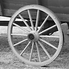 Old Wagon Wheel Close-up by JaneLoughney