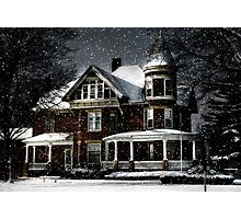 Twilight Snow Photographic Print