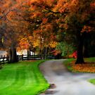 New England Country Scene by Monica M. Scanlan
