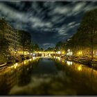 Amsterdam Canals by Night by Martin Finlayson