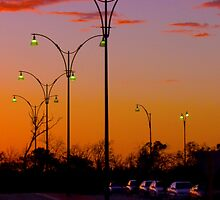 Street Lights at TAFE carpark02 -  Joondalup Western Australia  by Reza2111