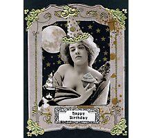Vintage Birthday Card Photographic Print