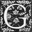 "Art Nouveau ""G"" (William Morris inspired) by Donnahuntriss"
