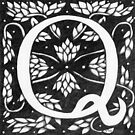 "Art Nouveau ""Q"" (William Morris inspired) by Donnahuntriss"