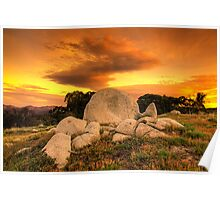 Rock's and Cloud - Mt Stirling Poster