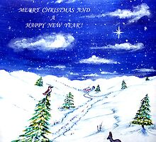 White Christmas Card by © Linda Callaghan