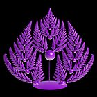 Fern in Purple by Sandy Keeton