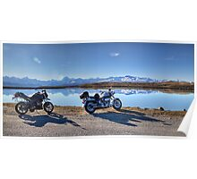 My Bikes, Tekapo B Headpond and Aoraki Mount Cook Poster