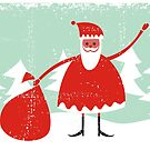 santa card by Anastasiia Kucherenko