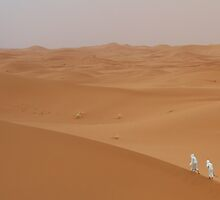 Sahara desert figures by Christine Oakley