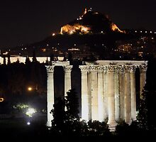 Temple of Zeus in Athens by elenmirie