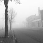 Fog On Cuyahoga Falls Ave. by coffeenoir