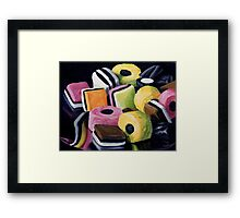 Liquorice Allsorts Framed Print