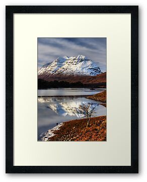Liathach, The Tree, and Loch Clair. North West Scotland. by photosecosse /barbara jones