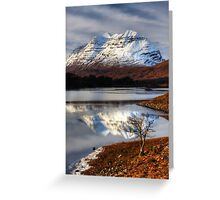 Liathach, The Tree, and Loch Clair. North West Scotland. Greeting Card