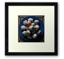 With an Apple, He Astonished Framed Print