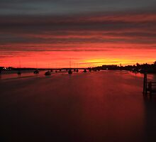 Fire over the harbour by kathy s gillentine