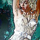 Madonna performing by artist Debbie Boyle - db artstudio by Deborah Boyle