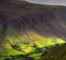 The valley at Tal y Llyn - North Wales by Rory Trappe