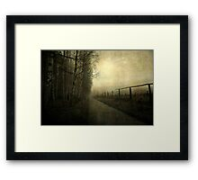 A gleam of light Framed Print