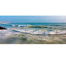 sea curve Photographic Print